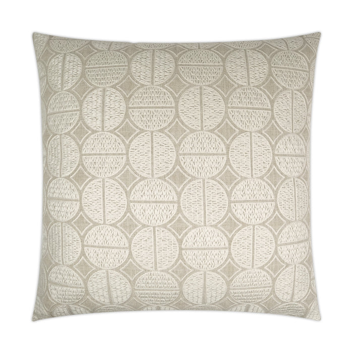 DECORATIVE PILLOW - Medallions / Oyster