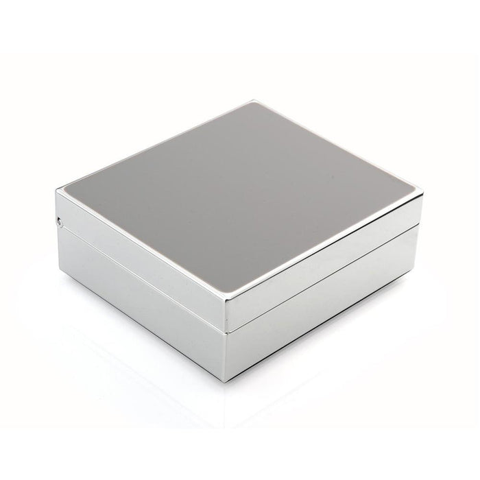 Chiffon Grey & Silver Hinged Box
