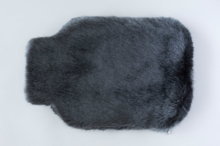 Navy Blue Faux Fur WATER BOTTLE COVER