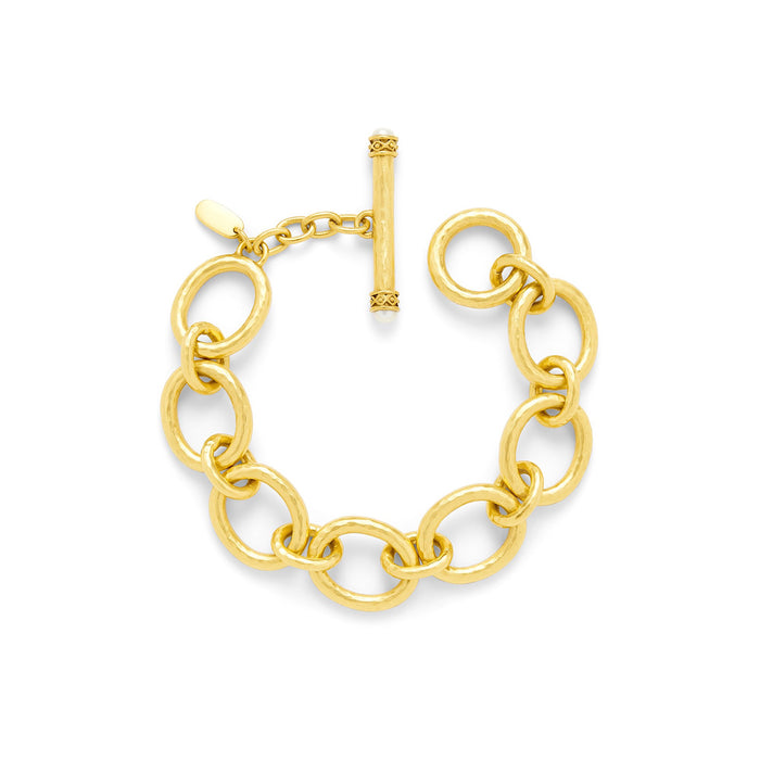 Julie Vos Small Gold Link Bracelet