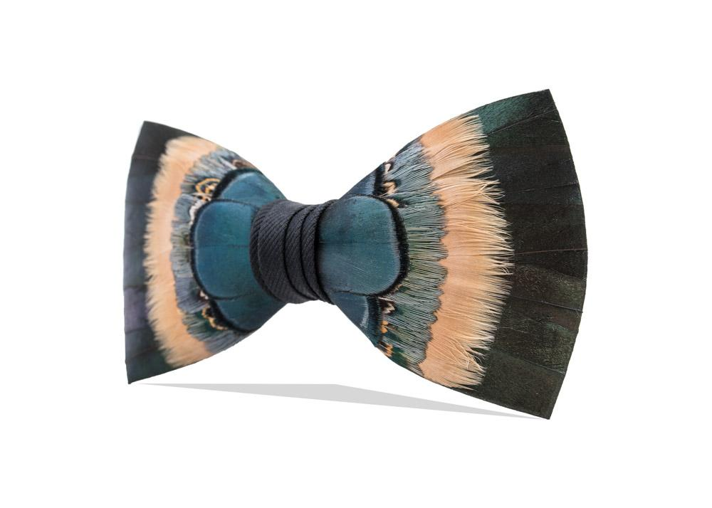 FEATHER BOW TIE HEMLOCK