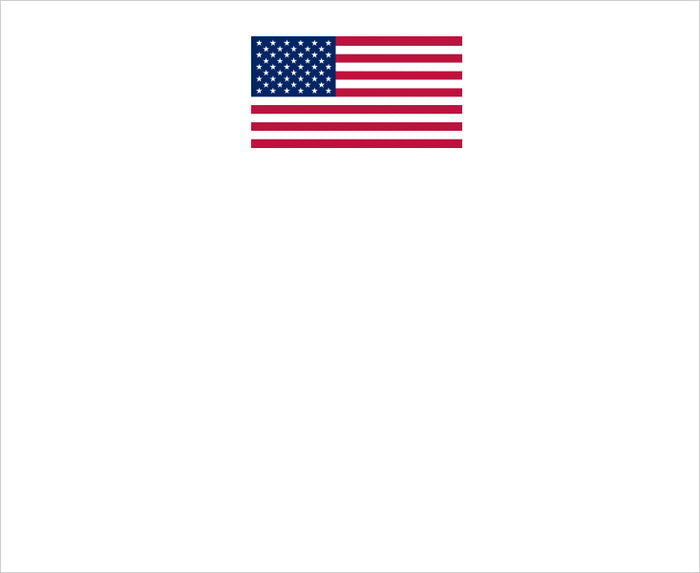 WRITING PAD AMERICAN FLAG