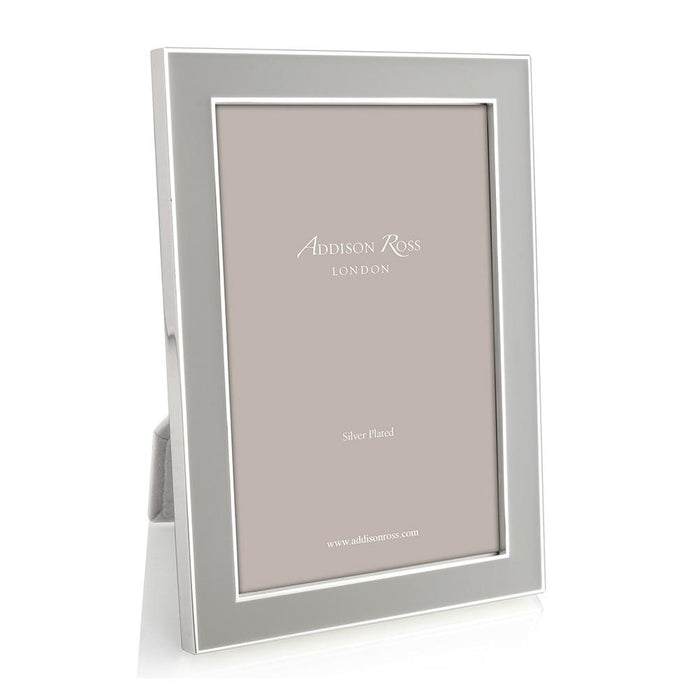 Chiffon Enamel and Silver Frame  - Available in 3 Sizes