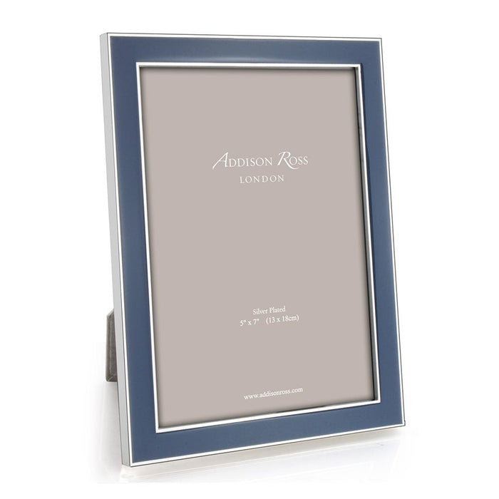 Denim Blue Enamel and Silver Frame -Available in 2 Sizes