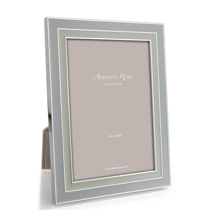 Dove Grey & Pebble Enamel  Frame