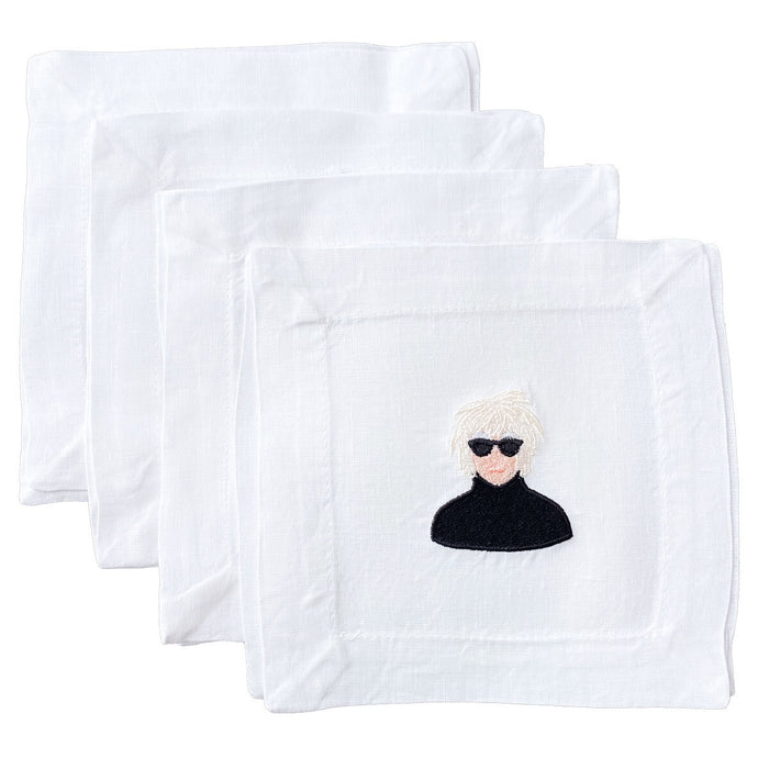 Andy Warhol Linen Cocktail Napkins