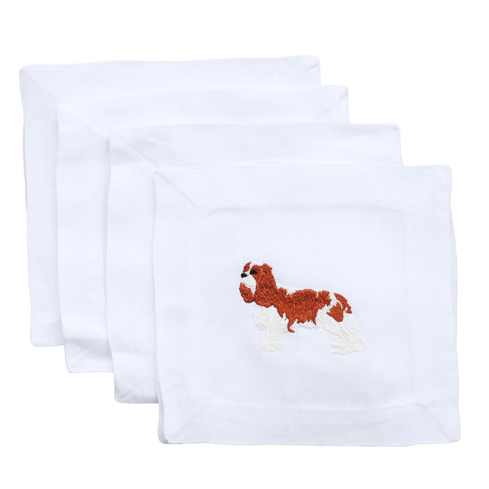 King Charles Caviler Linen Cocktail Napkins