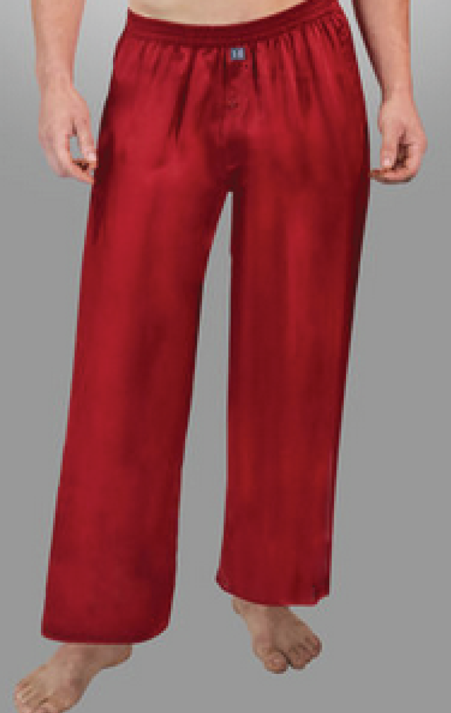 MEN'S SILK BORDEAUX PANTS