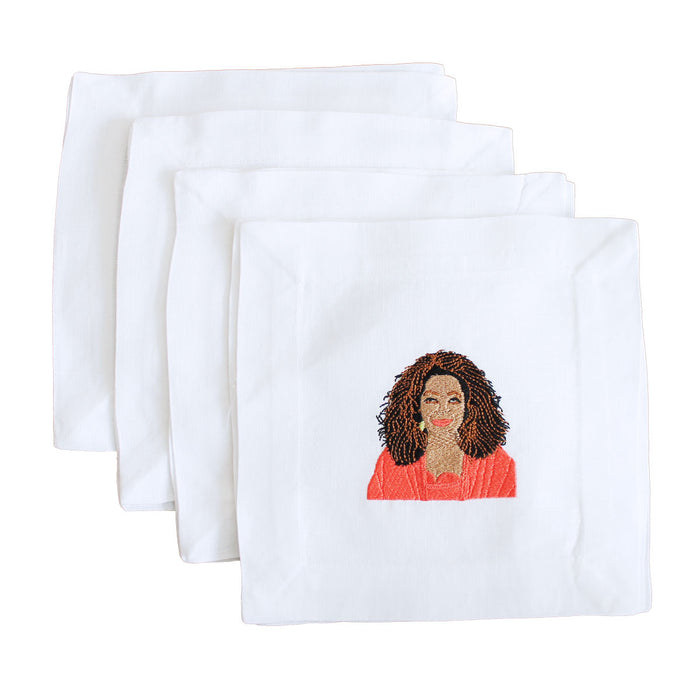 Oprah Linen Cocktail Napkins