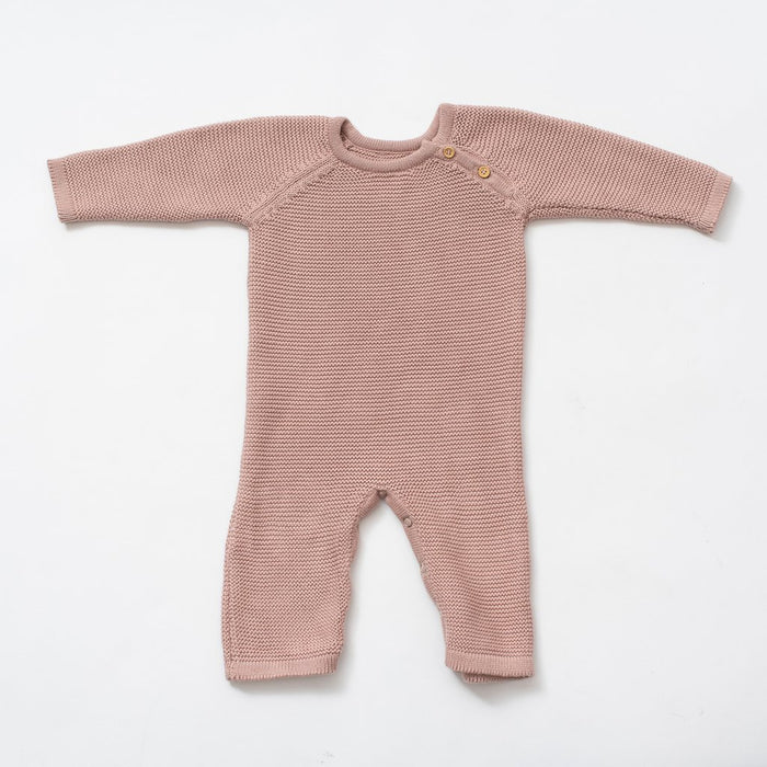 Baby Blush Long Knit Romper