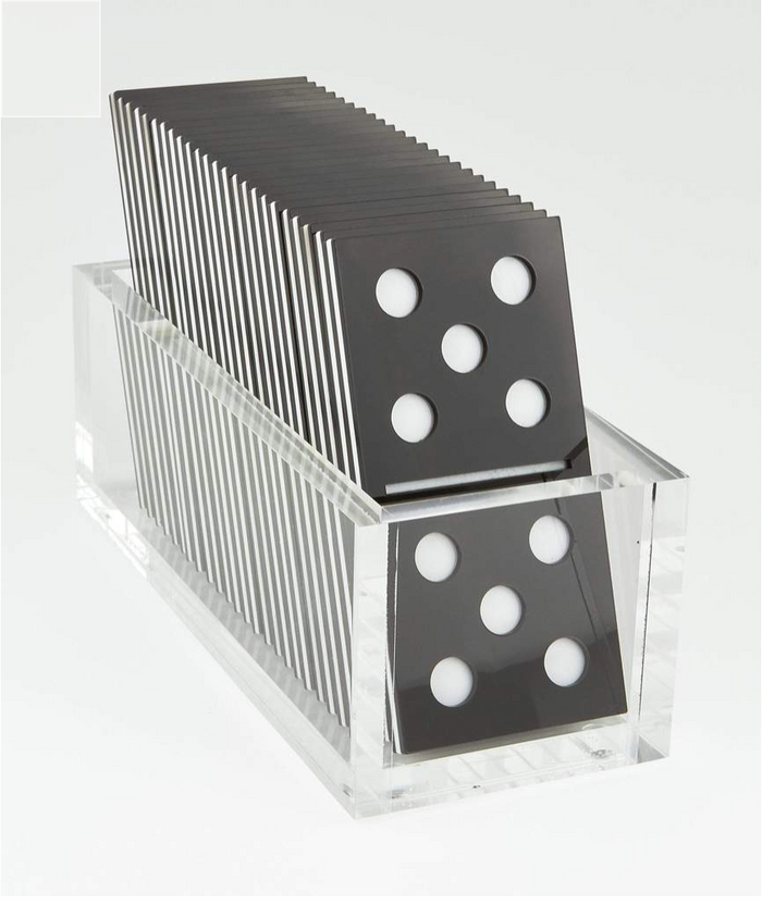Domino Set in Lucite Box