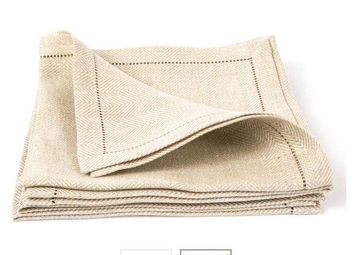Natural Linen Hemstitch Napkin