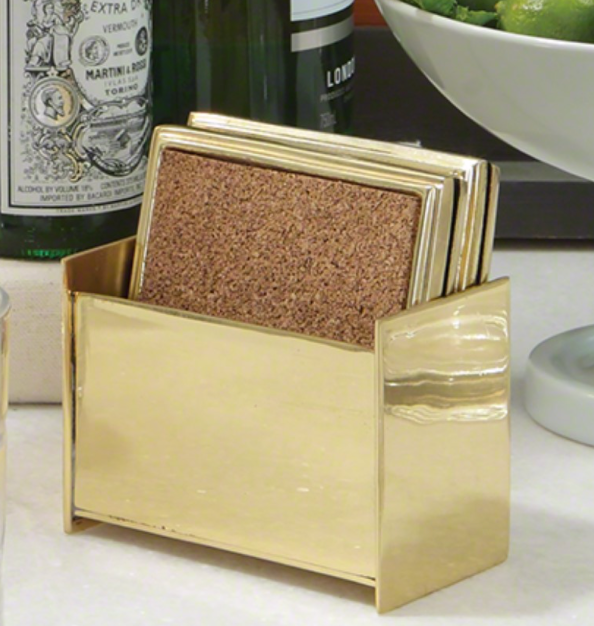 Brass Square Coasters