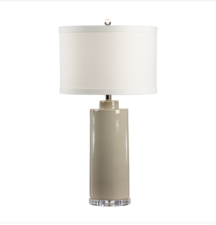 Stone Grey Crackle Glazed Table Lamp