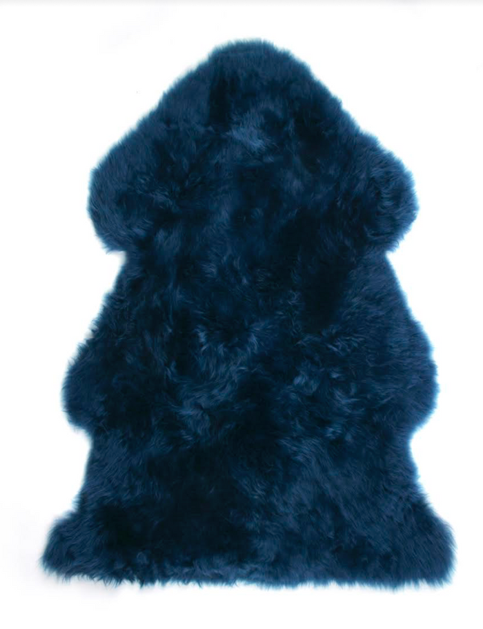Pacific Blue Sheepskin Rug 2'x3'