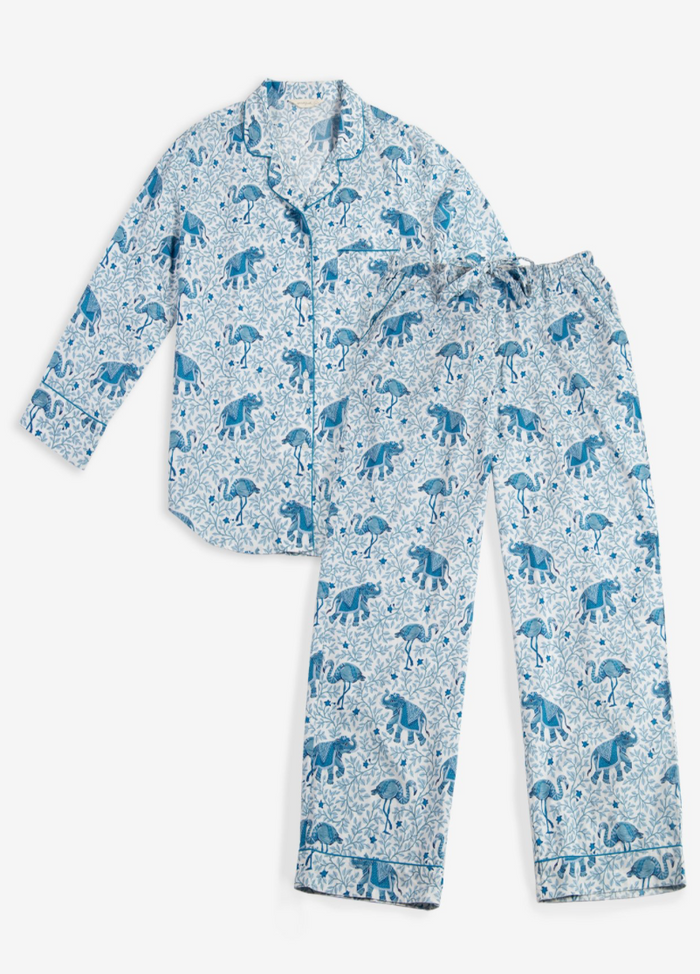 Flamengo Long Sleep Set - Pale Blue