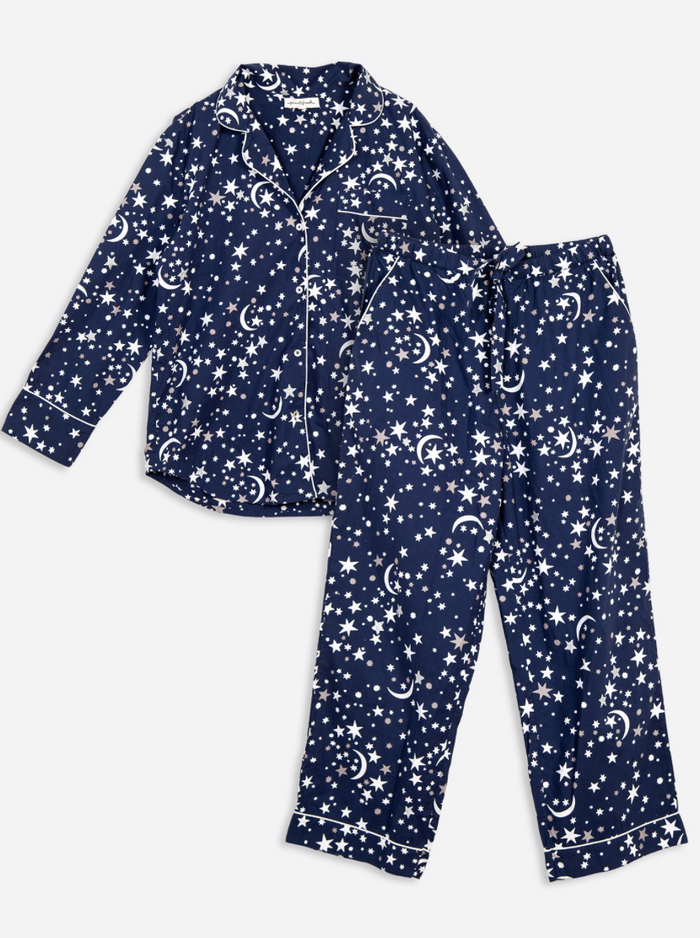 Celestial Skies Long Sleep Set - Indigo
