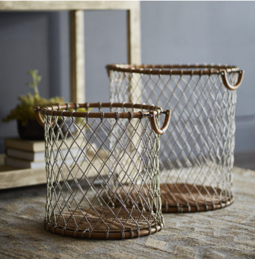 Nantucket Wire Basket - Available in 2 Sizes