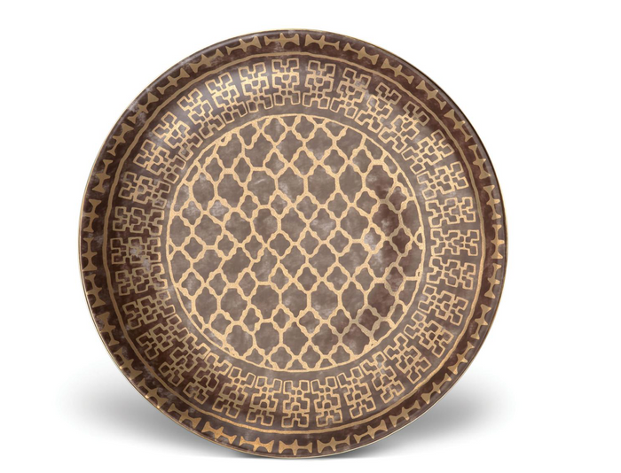 Fortuny Ashanti Large Round Platter by L'Objet