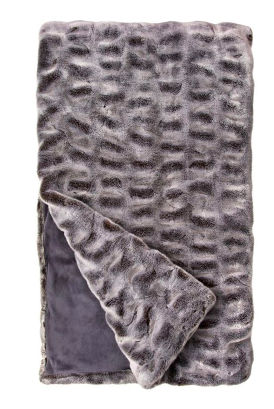 Glacier Grey Mink Faux Fur Throw