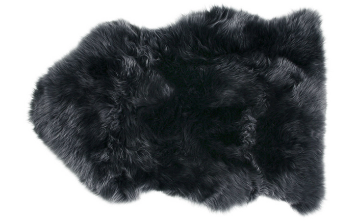 Steel Grey Sheepskin Rug 2'x3'