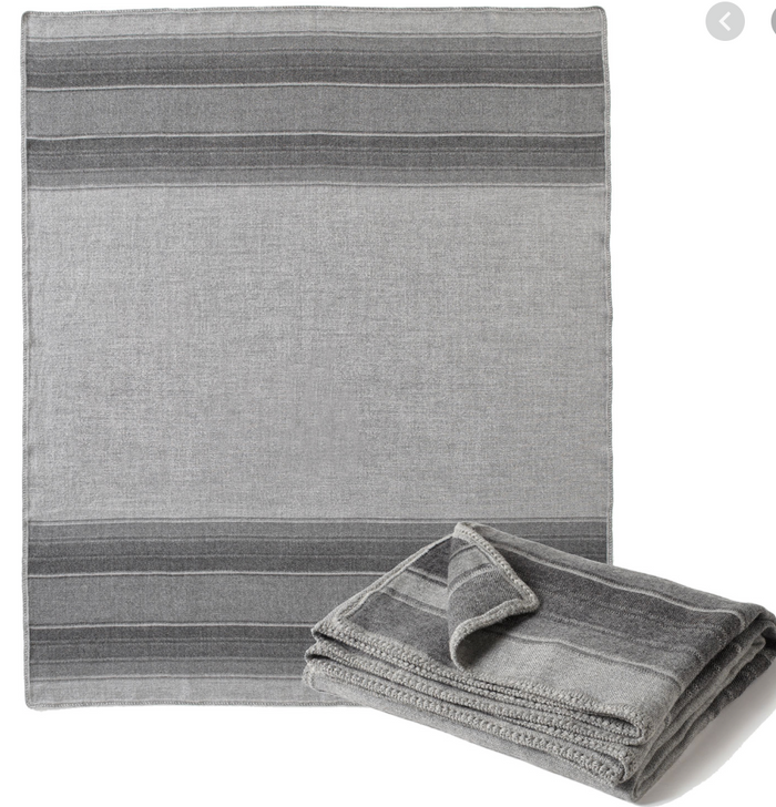 Grey Stripe Alpaca Throw