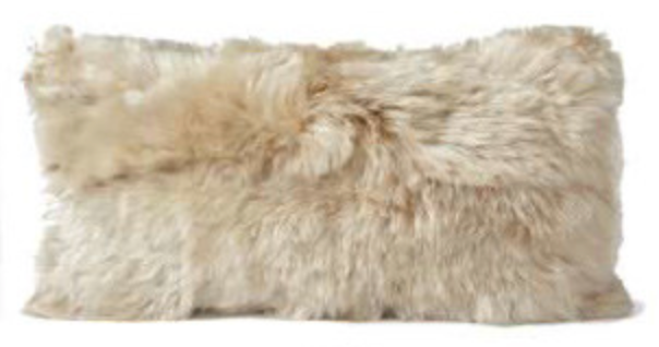 "Alpaca and Microsuede 11""x 22"" Pillow  Available in 4 Colors"