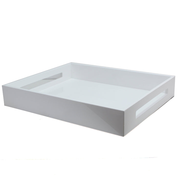 White Lacquered Tray