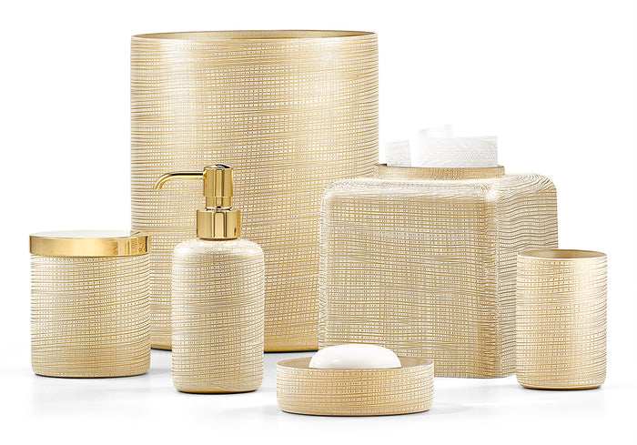 Labrazel Woven Gold Bath Accessories