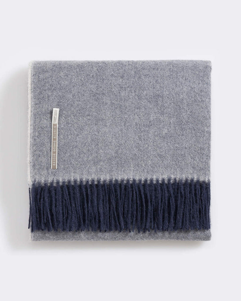 Alicia Adams Classic Herringbone Alpaca Throw Collection