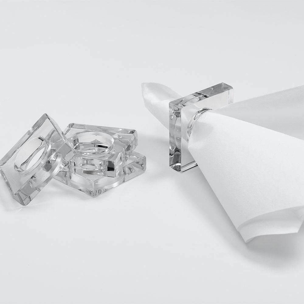 Square Clear Acrylic Napkin Ring