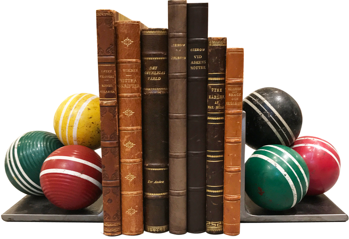 Vintage Billiard Ball Bookends
