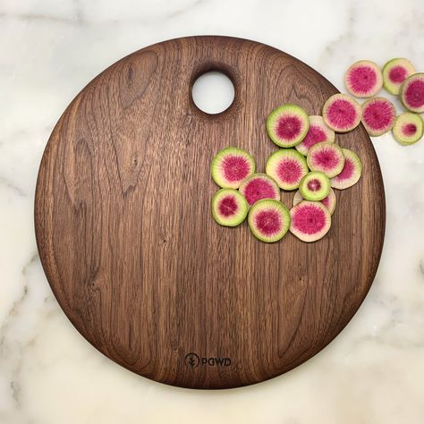 Black Walnut Circle Board by Phil Gautreau