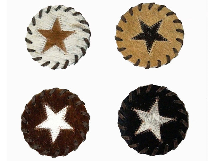 Star Hide Coasters