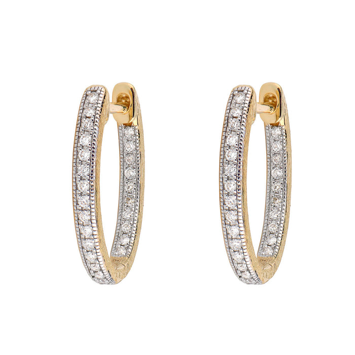 Jude Frances Delicate Small Oval Hoop Earrings