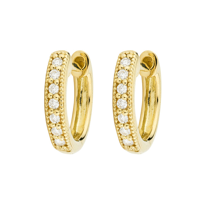 Jude Frances Huggie Hoop Yellow Gold Earrings