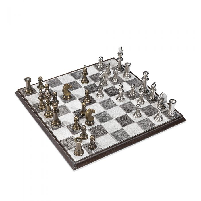 Grey Hide Chess Set