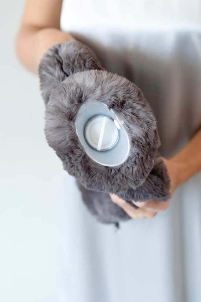 Chocolate Faux Fur WATER BOTTLE COVER