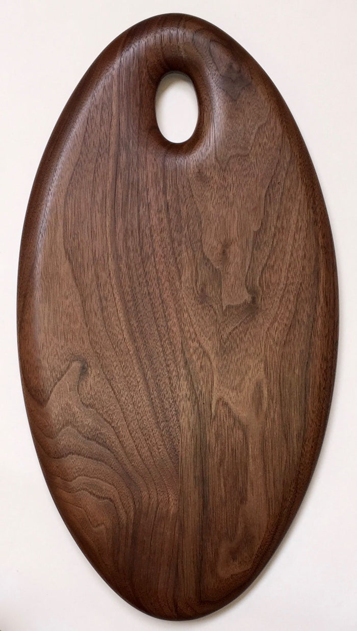 Black Walnut Oval Board by Phil Gautreau
