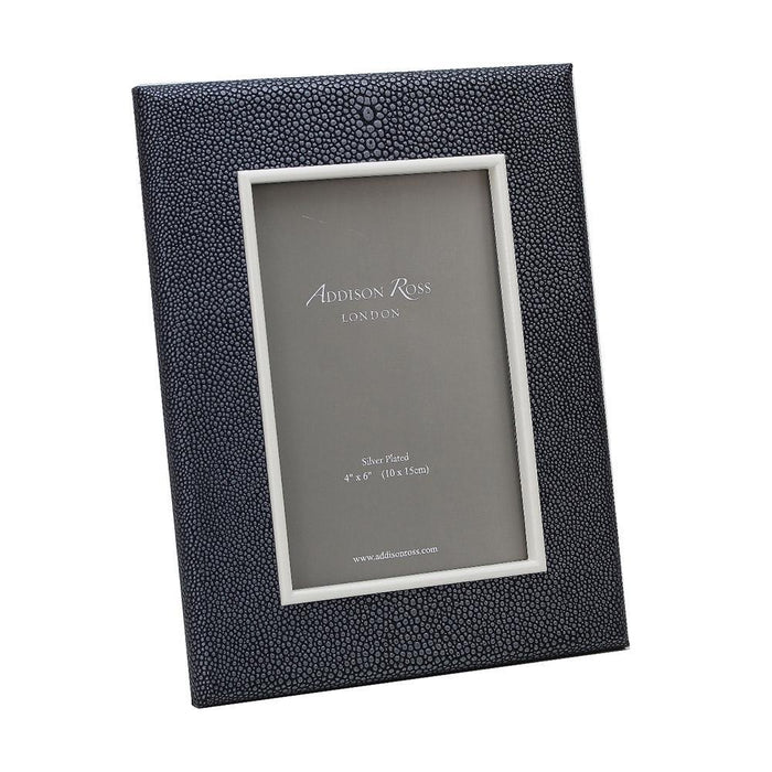Dark Grey Shagreen Frame  - Available in 2 Sizes