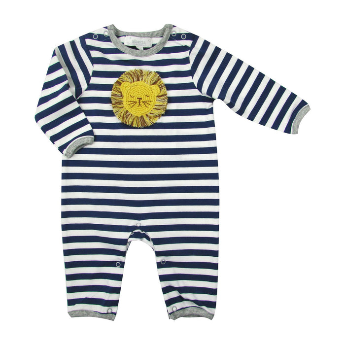 Baby Striped Crochet Lion Coverall