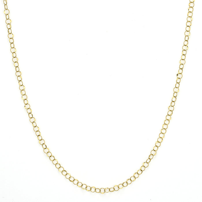 Jude Frances  Hammered Circle Chain Necklace