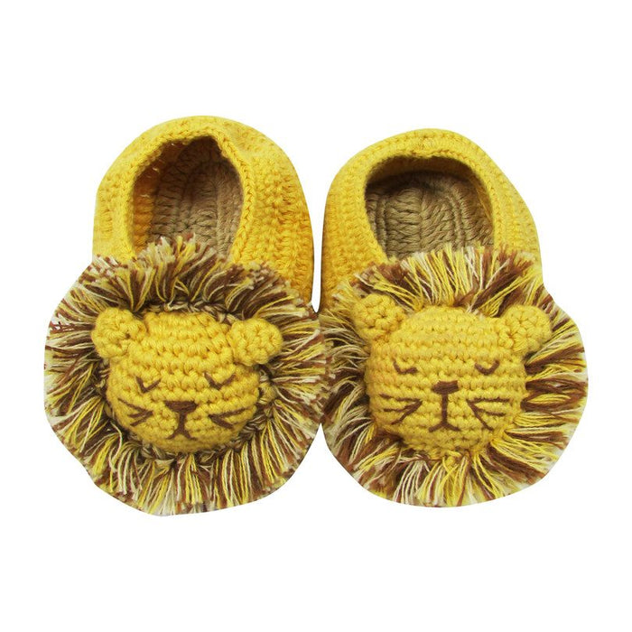 Lion Crocheted Booties