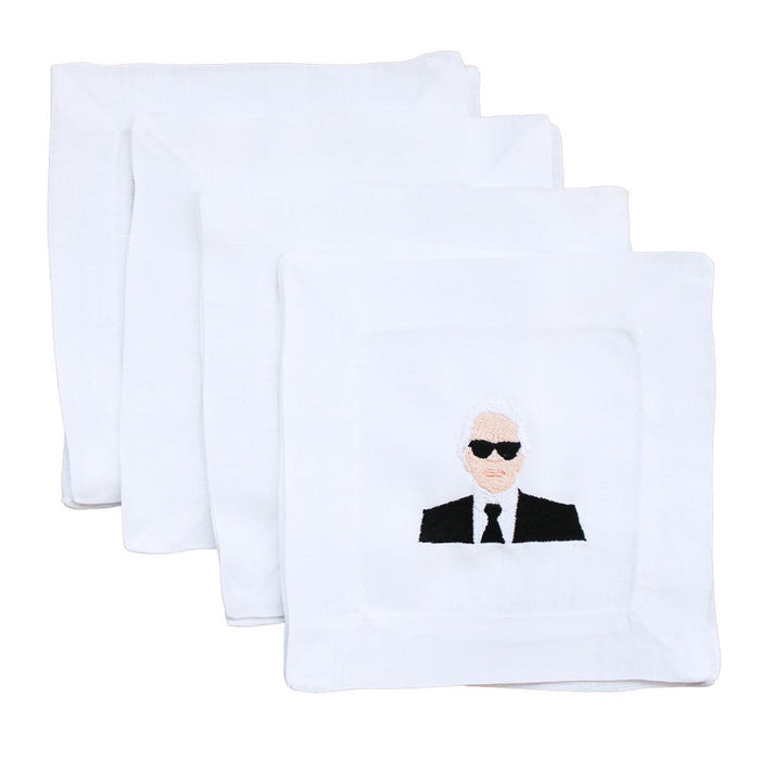 Karl Lagerfeld Linen Cocktail Napkins