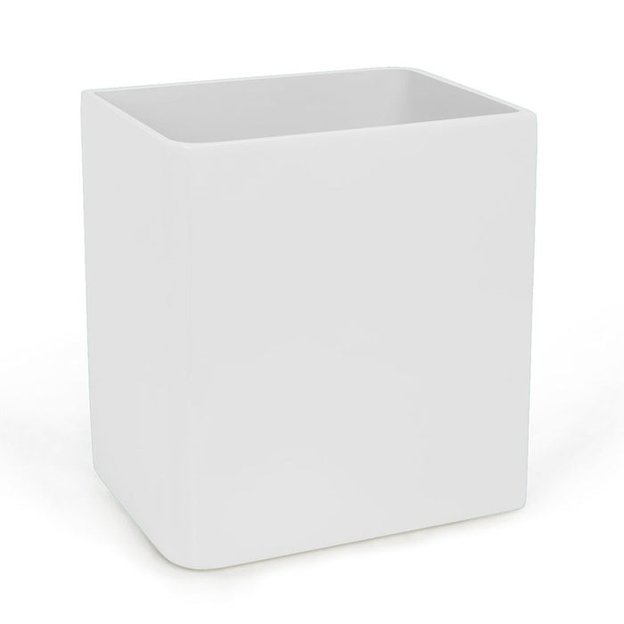 White Lacquer Waste Basket