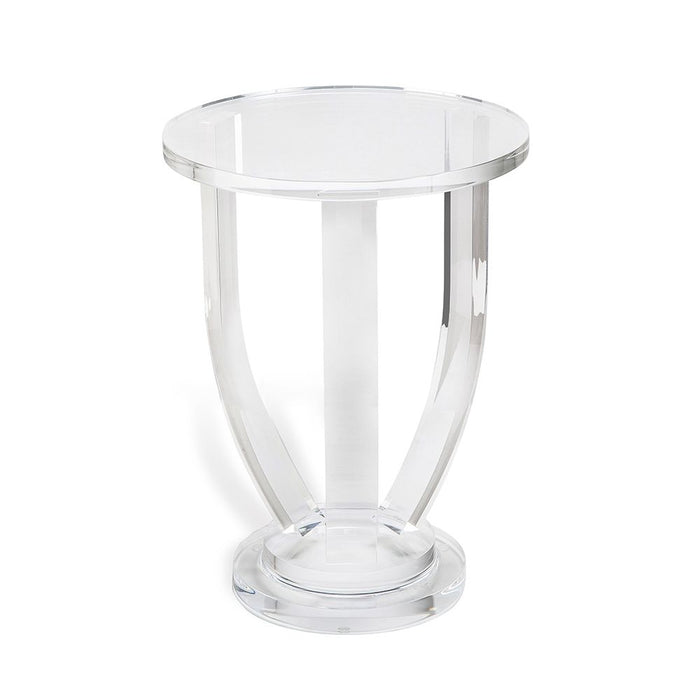 Small Round Clear Acrylic Side Table
