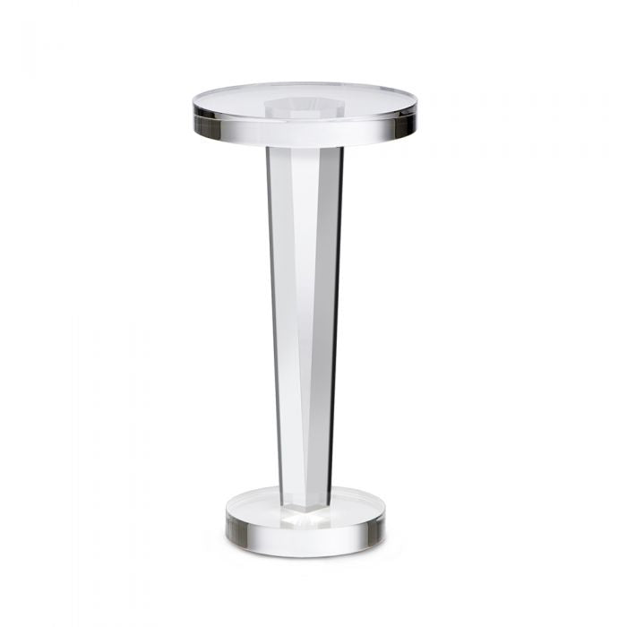Small Round Tapered Base Clear Acrylic Side Table