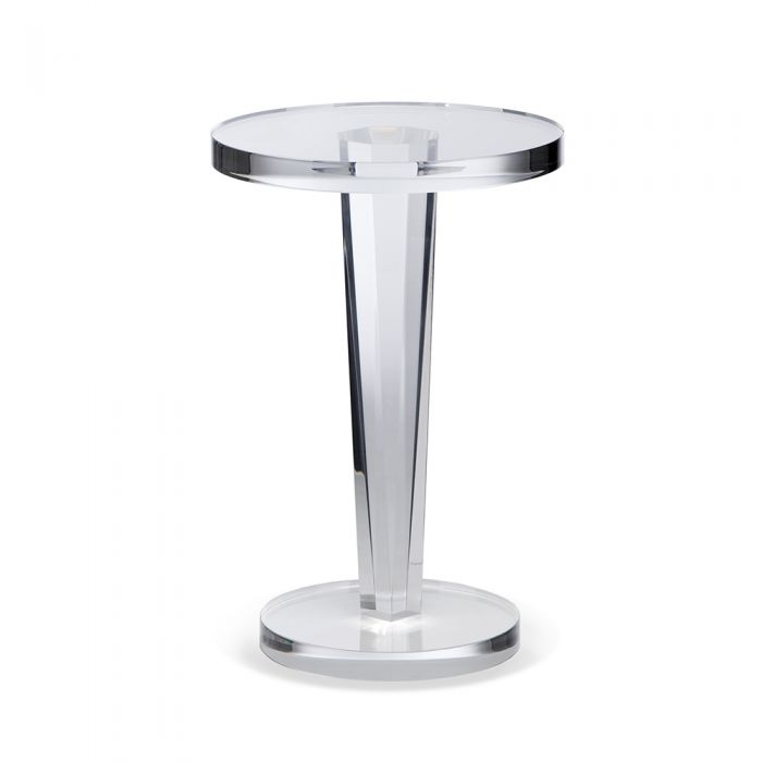 Round Tapered Base Clear Acrylic Side Table