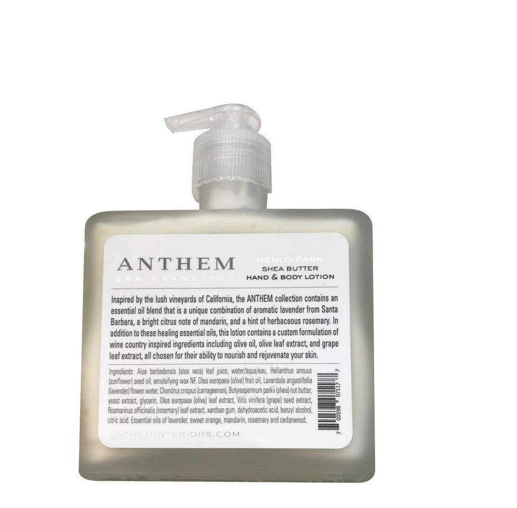 ANTHEM MENLO PARK HAND AND BODY LOTION 8oz