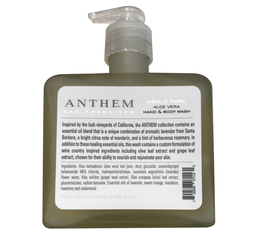 ANTHEM MENLO PARK HAND AND BODY WASH 8oz